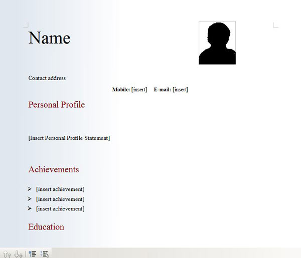 free cv for downloads